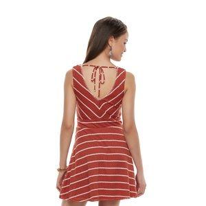 Jr. Trixxie striped burnt orange knit dress small